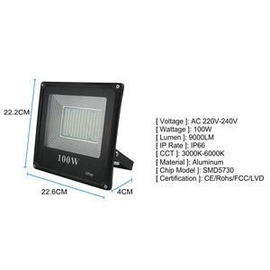 Image 4 - BUYBAY LED projektör 220V 240V 30W 50W 100W 200W dış aydınlatma projektör reflektör Led dış spot led exterieur