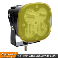 40W LED WORK LIGHT 4.3INCH OFF ROAD 12V 24V Driving USED FOR CAR TRUCK SUV ATV UTV UTE Drive X1PCs