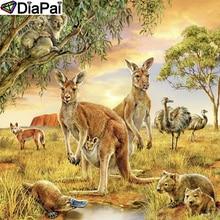 DiaPai 5D DIY Diamond Painting 100% Full Square/Round Drill Animal kangaroo Embroidery Cross Stitch 3D Decor A21909