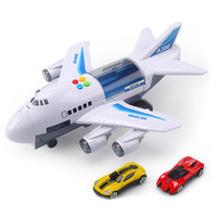 Music Car Story Simulation Track Inertia Children's Toy Aircraft Simulation Passenger Plane Boy Baby Music Toy