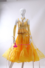 Standard Ballroom Dance Competition Dresses Women High Quality Summer Yellow Stage Tango Waltz Ballroom Dancing Dress