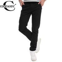COOFANDY Men casual pant Medium Waist Pants Solid Casual Leisure Loose Cotton Pants with Packet Front Invisible Zipper Not Tight