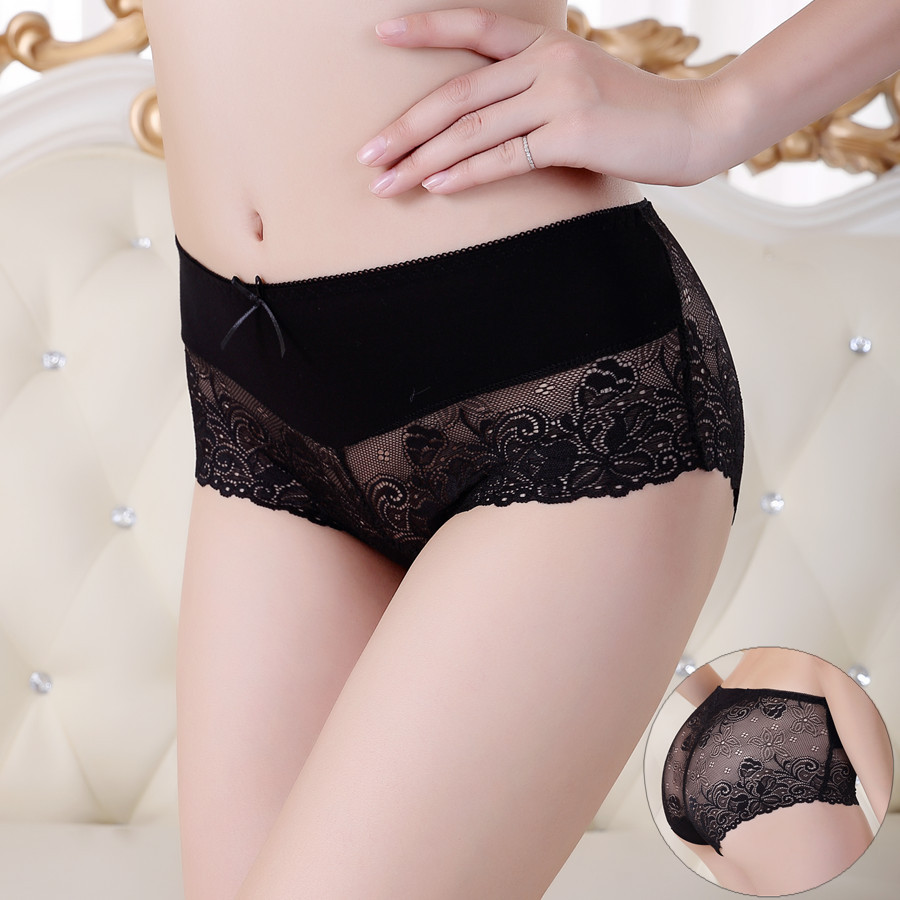 PRTYWB Fashion Briefs Women Underware Transparent Panties Lace Knickers Stereotypes Hips Abdomen Breathable Sexy Underpants