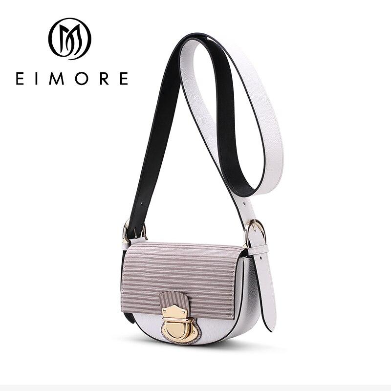 EIMORE Color Panelled Mini Women Shoulder Bags Female Small Messenger Crossbody Bags Lady Genuine Leather Handbag