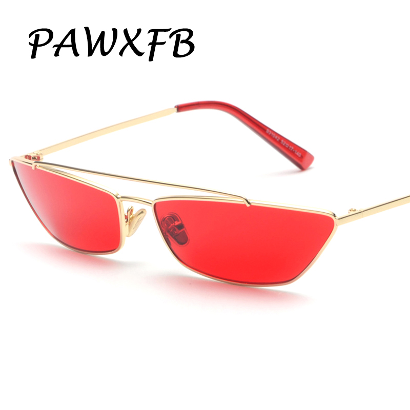 Pop Age 2018 New Small Frames Metal Red Lens Sunglasses Women Brand Designer Vintage Retro Ladies Sunglasses Men Eyewear 400UV
