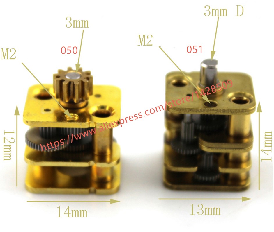 1 Pcs Hight Quanlity 0.5  Modulus  Metal Micro  Copper Change Speed Gear Box And Reduction Gearbox For The Robot Motor