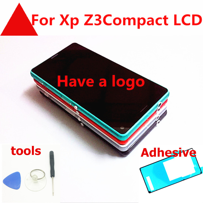 4.6 inch Touch For SONY Xperia Z3 Compact Mini D5803 D5833 Z3C Z3mini LCD Display Touch Screen with Frame +plug +tools+glue