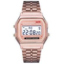 Nuevo 4 colores superior del diseño del reloj LED reloj multifunción para mujer hombre Electronic Digital relojes relojes F91W
