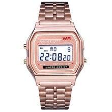 Новинка 4 цвета Топ дизайн светодиодный часы многофункциональные часы для женщин Человек электронные цифровые часы relojes F91W
