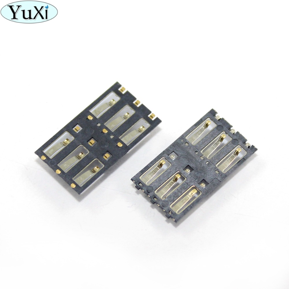 YuXi For Nokia Lumia 800 900 920 925 1020 For Sony C3 S55T S55U D2502 SIM Reader Card Slot Holder Port Replacement Repair Part