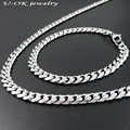 7mm 20cm 22cm 24cm 50/60/70/90/120cm Fashion Man Big Heavy Chain 316l Stainless Steel Silver Rolo Chain Necklace Fashion Jewelry
