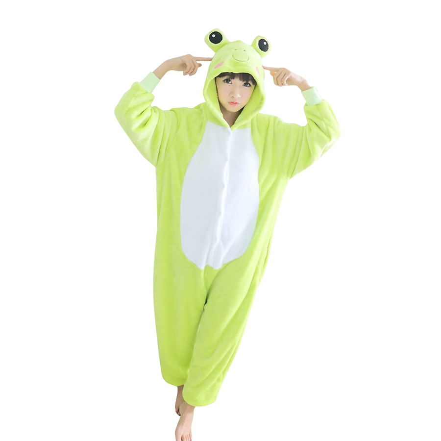 Adult Cosplay Costume Frog Onesie Pajama For Halloween Carnival Masquerade Party
