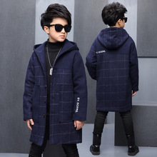 Warm Thick Hooded Fashion Boys/Girls Winter Jacket Kids Outerwear Coats with Berber Fleece New 2016 DAE