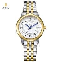 Брендовые Простые Модные женские часы женские повседневные золотые кварцевые часы ультра тонкие часы из нержавеющей стали водонепроницае