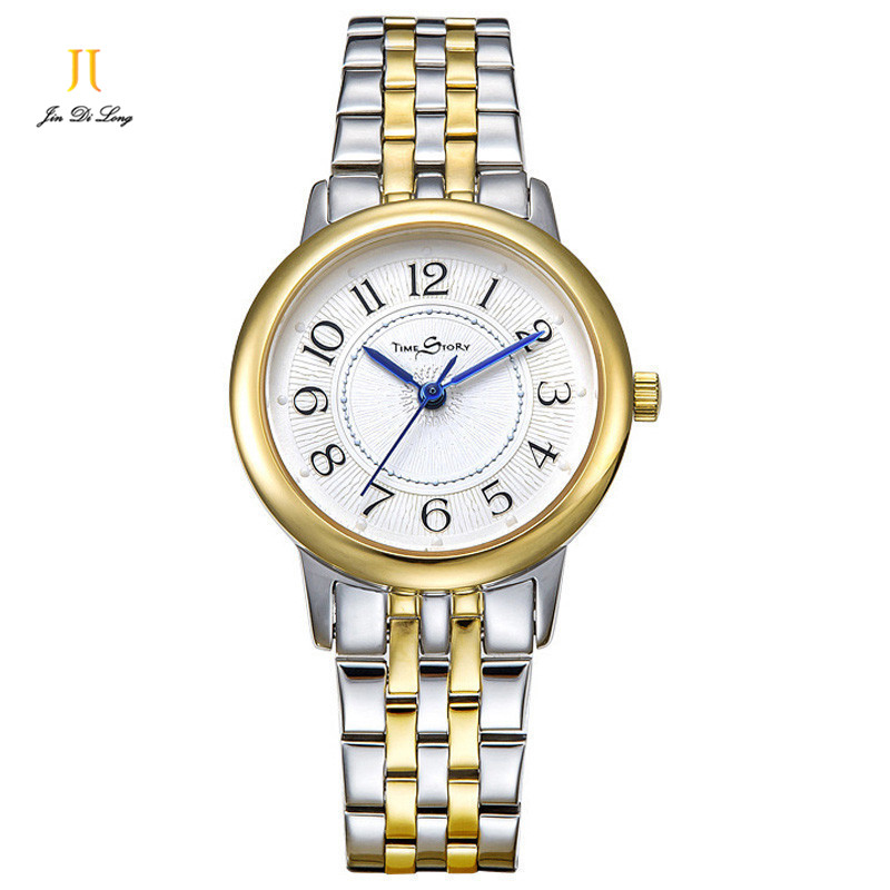 Brand Simple Fashion Ladies Watch Women Casual Gold Quartz Watches Ultra Slim Stainless Steel Clock Waterproof Wristwatch 2016 new ladies fashion watches decorative grape no word design gold watch stainless steel women casual wrist watch fd0107