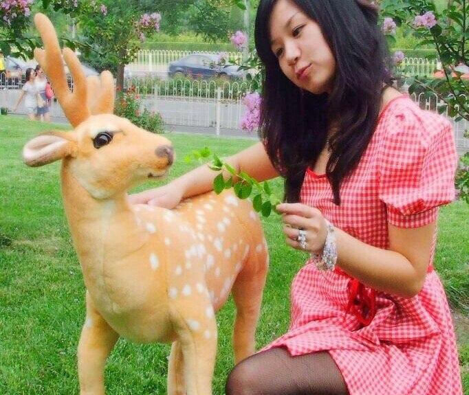 huge 90x70cm sika deer plush toy standing pose deer doll,Christmas gift b4694huge 90x70cm sika deer plush toy standing pose deer doll,Christmas gift b4694