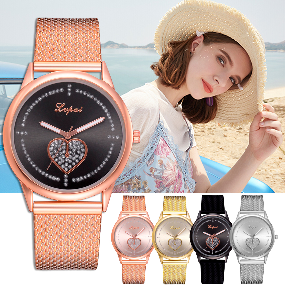 Lvpai Brand Ladies Watch Rhinestone Simple Upscale Large Dial Womens Heart Watches Minimalism Luxury Gift Wristwatches