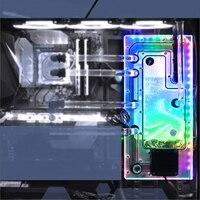 BYKSKI акриловая доска Воды Канала решение использовать для Cooler Master C700P чехол для ноутбука для Процессор и GPU Блок/3PIN RGB света