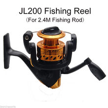 JSM 2.4m Fiberglass Telescope Baitcasting Fishing Rod And Reel Fly Fishing Casting Spinning Fishing Rod And Waterproof Bag Combo