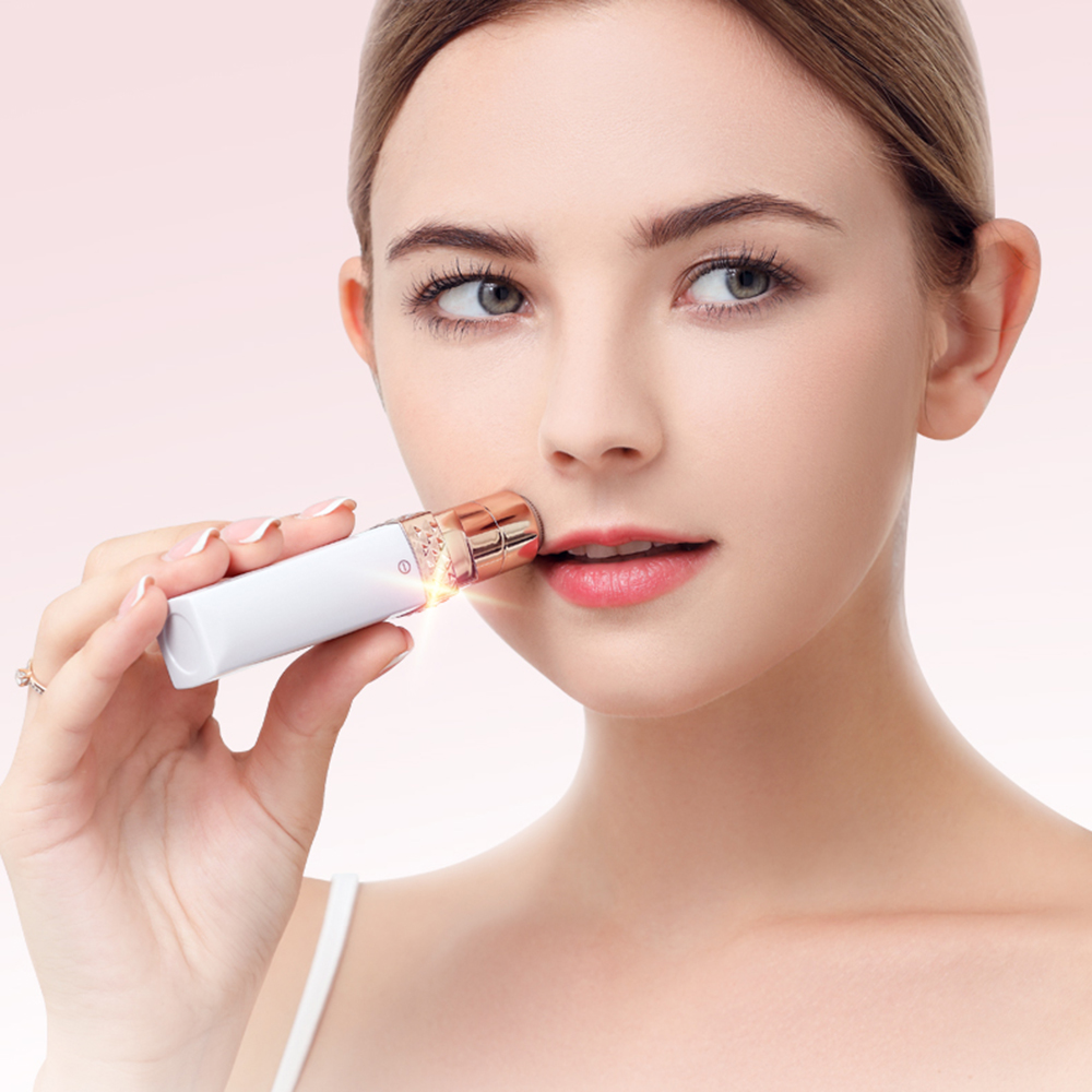 Mini Electric Hair Removal Lipstick Shape Female Device Women Body Face Electric Instant Shaving Tools For Women