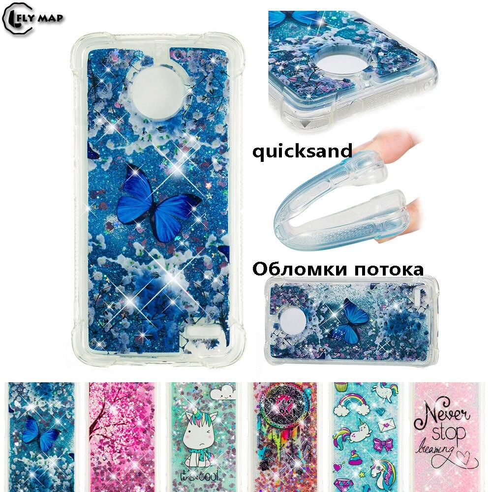 Glitter Stars Phone Cover for Motorola Moto E4 E Gen 4 XT1767 XT1766 XT1762 XT1763 Dynamic Liquid Debris TPU Quicksand Back Case