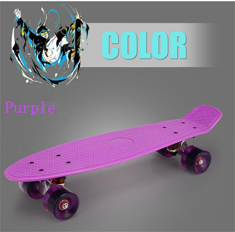 Nouveau Freestyle Cool Mini Cruiser planche à roulettes unique banane Longboard enfants deviennent déformés route Sport Skate Board 10 couleurs - 2