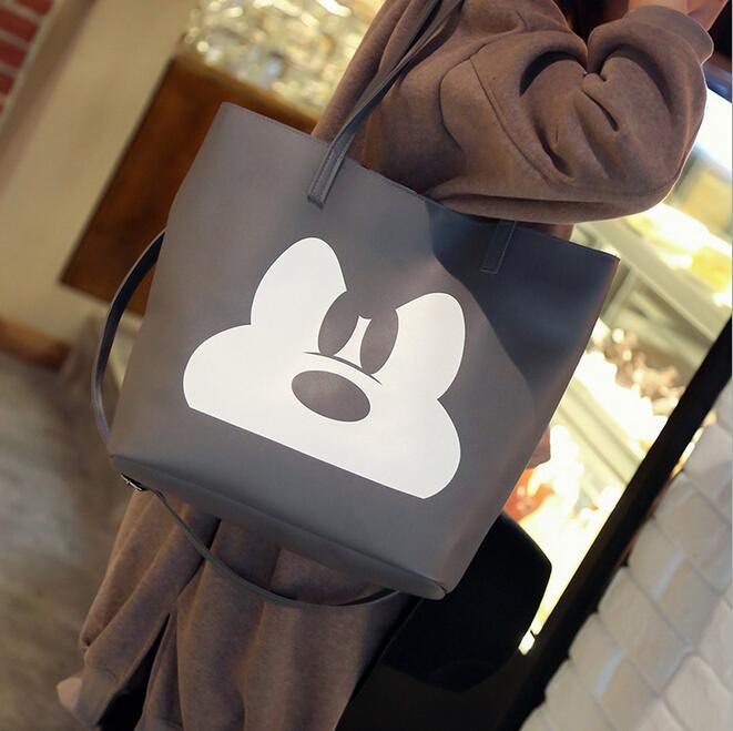 Mickey Bolsos  otoño de La Manera Nuevo bolso Femenino De Impresión de Alta cali