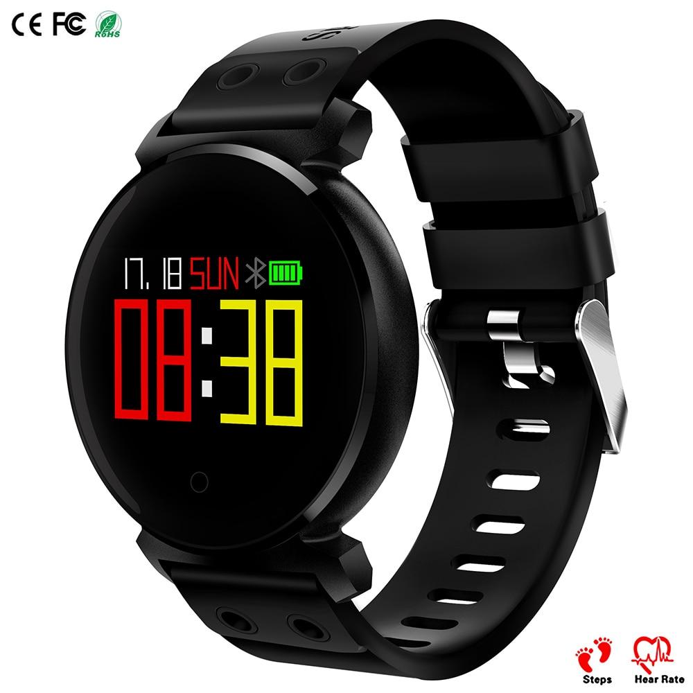 Super slim K2 deportes Smart Band Bluetooth IP68 pasos arterial Monitor actividad Tracker llamada SMS recordar Smart reloj
