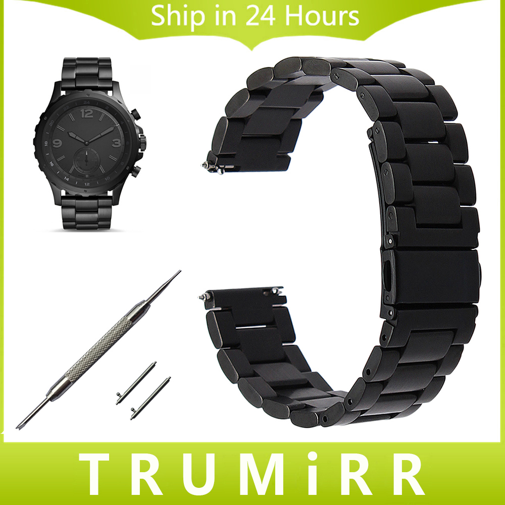 Quick Release Stainless Steel Watchband for Fossil Q Tailor Gazer Founder Wander Crewmaster Grant Marshal Watch Band Wrist Strap шина kumho marshal matrac mu19 235 40 r18 93y