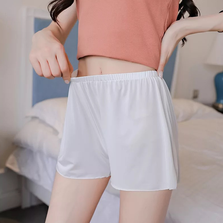 Summer Plus Size Short Sleep Bottoms Women Safety Short Leggings Sexy Loose Outwear Hot Pants Black White Skin Home Nightgown 5