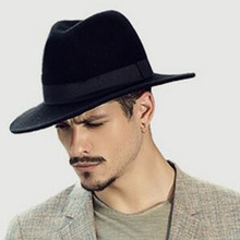 6eb9deffd78 New Wool Women s Men s Wide Brim Fedora Hat For Laday Gentleman Sombreros  Jazz Church Cap Dad