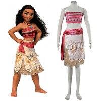 Moana Cosplay Costume Sexy Princess Costume Halloween Suit Movie Moana Costume Adult Women Party Dress Skirt