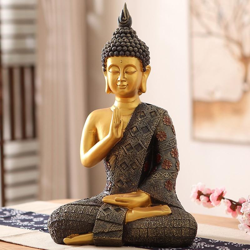 Style sud-est asiatique Zen bouddha Sakyamuni porche ornements ameublement ameublement comme le salon décoration artisanat