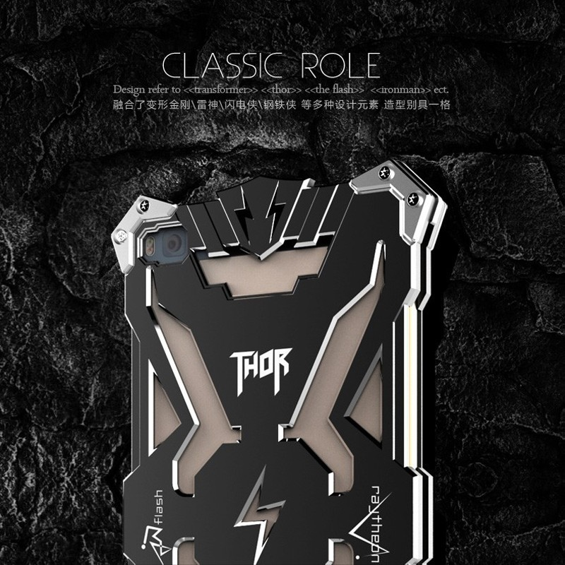 P8-New-Original-Design-Cool-Luxury-Metal-Aluminum-Armor-THOR-IRONMAN-protect-phone-cover-shell-case (2)
