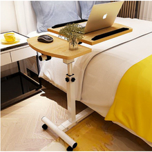 250302/Home bed with simple desk /Lazy bedside laptop desk /  folding mobile small desk/Wearable PU roller