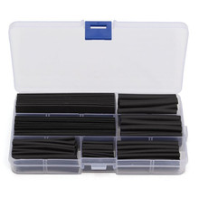 цена на Black 150pcs 2:1 Polyolefin Heat Shrink Tubing Tube Sleeving Wire Electrical Insulation Cable Kit 8 Sizes 2-13mm
