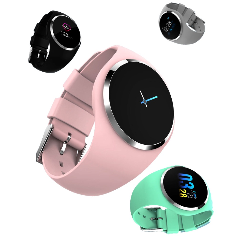 633f27de0d86 Comprar Mujer inteligente Reloj mujer pulsera Reloj Monitor de ritmo cardíaco  podómetro de Bluetooth táctil inteligente Reloj deportivo para correr  Online ...