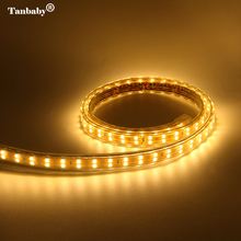 Double Row SMD 2835 LED Strip AC 220V 156 leds /M Waterproof High brightness White flexible rope outdoor home decoration
