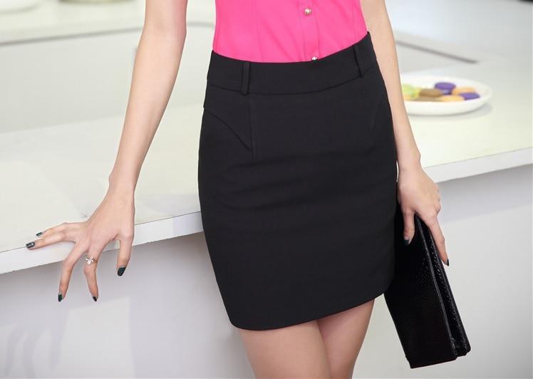 7f449eaf3e 2015 Summer Fashion Short Skirt Female Uniform Design Office Ladies Work  Wear Mini Skirts Casual Elegant Black Plus Size