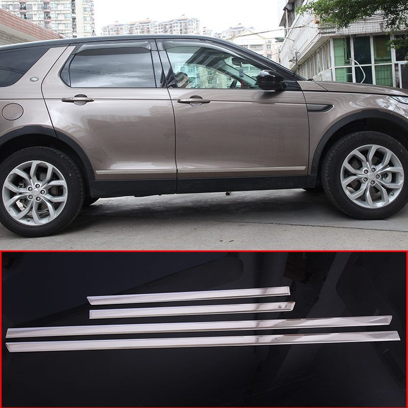 цена на 4pcs Chrome Stainless Steel For Land Rover Discovery Sport 2015-2018 Exteror Door Decoration Strips Trim