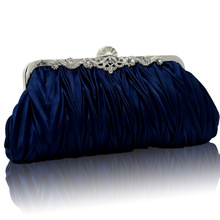 Fashion Elegant Evening Bags Handbag Clutch Ladies Purse Ruffled Bag Bridesmaid Wedding Bags Red Crossbody Bag SMYCYX-E0001