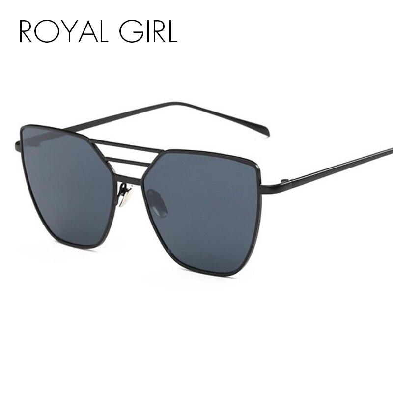 a4f6dbe483 Royal Girl alta calidad mujeres vintage Sol Gafas Flat Top metal Gafas de  sol marca Sol tonos ss217