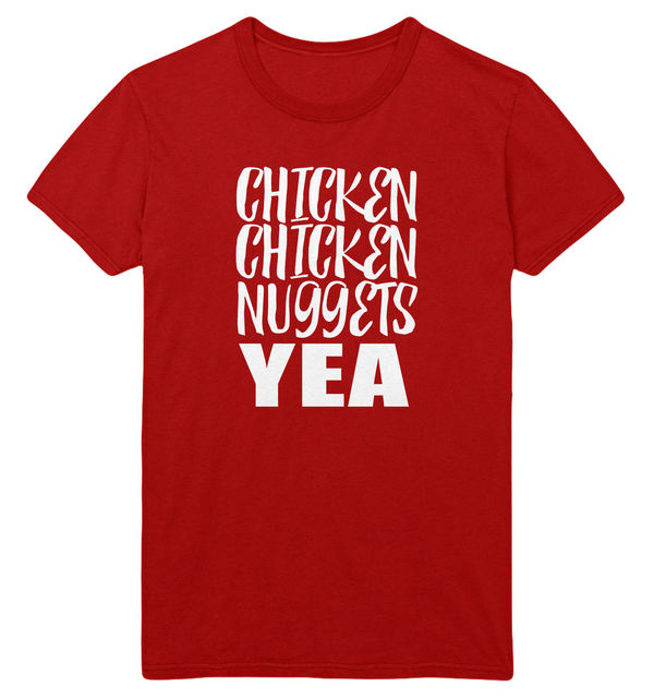 Chicken Chicken Nuggets Yea T Shirt Men Women Kids Funny Viral Song I love Top Cool Casual pride t shirt men Unisex New Fashion