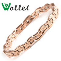Wollet Jewelry Water wave Pure Titanium Magnetic Bracelet Bangle For Women Fashion Magnet Copper Health Care Healing Energy