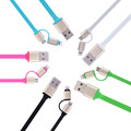 2 in 1 Micro USB Charging and Data Transfer Cable For iPhone 5 5S 6 6S iPad Air 2 Samsung LG HTC Android Phone Charger Wire