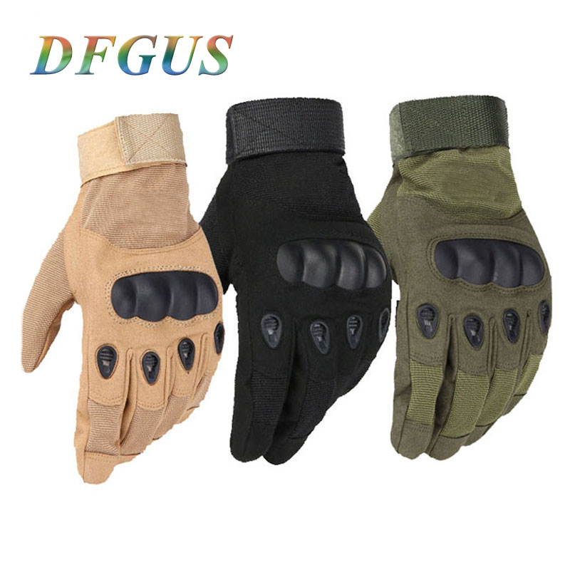 DFGUS Tactical Gloves Military Men Outdoor Full Finger Sports Gloves Antiskid Gloves Wearable Gym Tactical Army Gloves Mittens