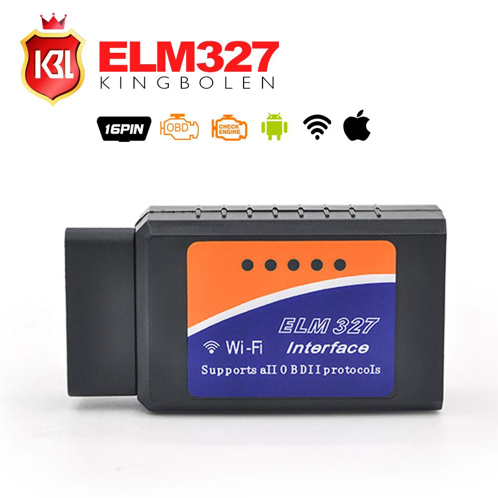 Prix pour A + Qualité Super Mini ELM327 Bluetooth/Wifi V1.5 PIC18F25K80 OBD2 OBDII Lecteur de Code ELM 327 Bluetooth ELM327 WIFI Android/IOS