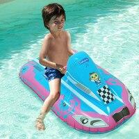Barato Niños inflable barco de pesca Kayak natación asiento anillo Flotador para niños niñas patrulla barco juguetes de agua nueva playa aire colchones