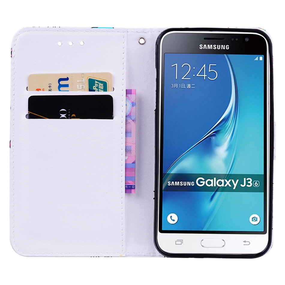 big sale 336c1 e9c77 PU Leather Coque Case Card Holders Cover For Samsung Galaxy S8 Plus J3 J5  A3 A5 S7 Edge Grand Prime Wallet Cases B113
