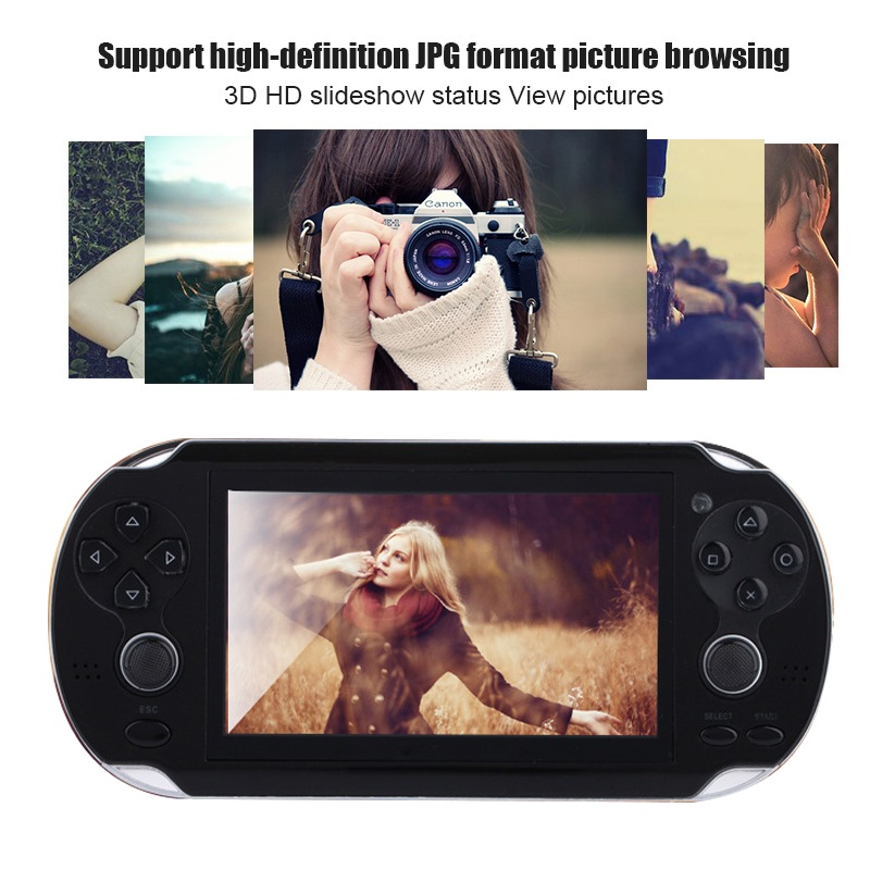 New Handheld Game Console 8GB Memory 32 Bit portable video game double Rocker built-in 1000 free games Support TV Out Put 3